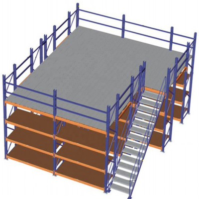 Powder coating warehouse storage racking system mezzanine flooring rack from China supplier