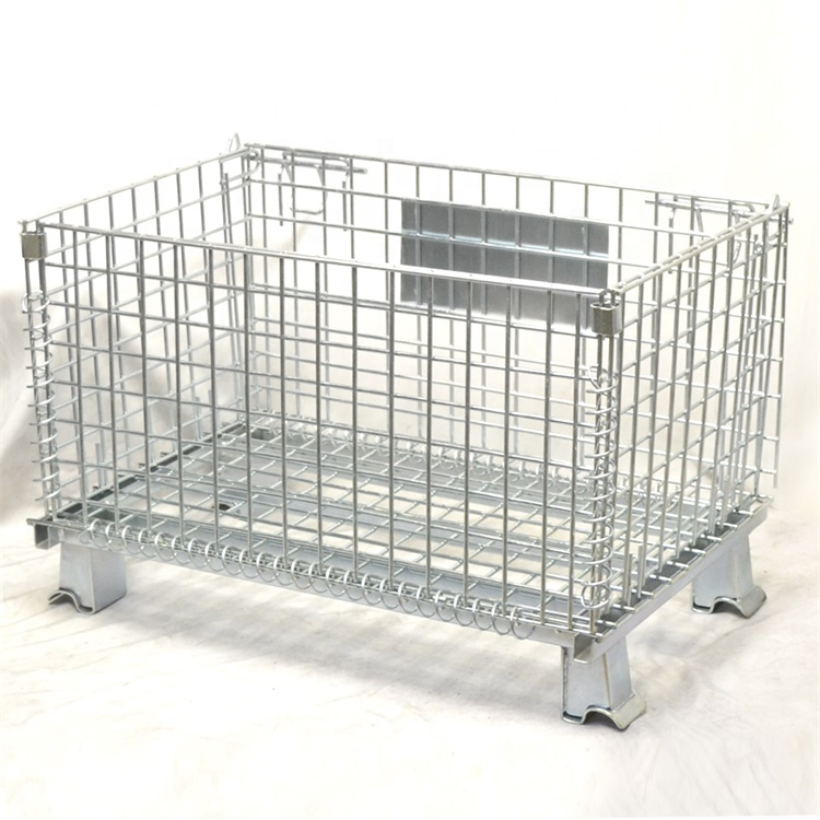 Manufacturer Supplier Galvanized Collapsible Heavy Duty Wire Mesh Container