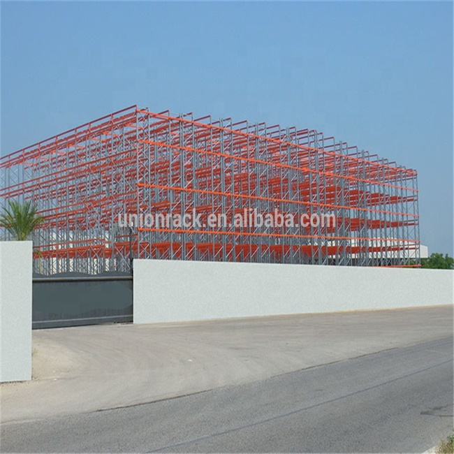 Rack cladding support steel warehouse and also support the walls and roof