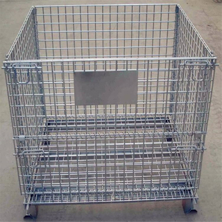 Heavy Duty Industrial Warehouse Bulk Mass Collapsible Steel Foldable Wire Mesh Container