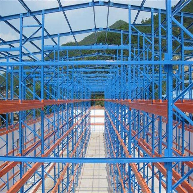Cladding self rack clad supported aumomation warehouse