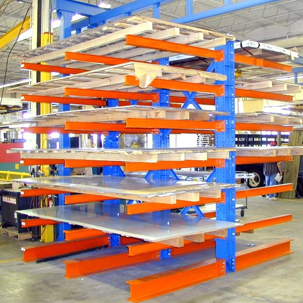Light/Medium/Heavy Duty Type Shelving Galvanized Arm Cantilever Rack Shelf