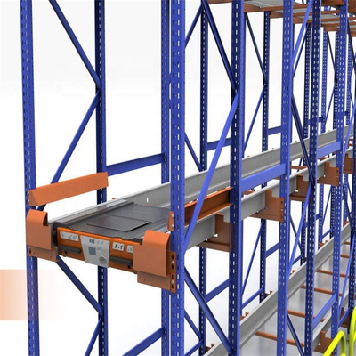 Automated warehouse racking system Radio shuttle rack with pallet runner