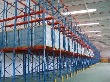 Heavy Duty Warehouse Steel Storage Customized Size Drive In Rack