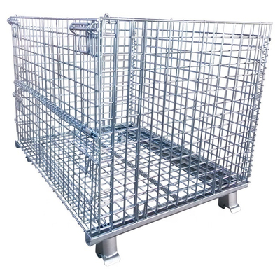 OEM Customized Welded Warehouse Storage Steel Foldable Wire Mesh Cage