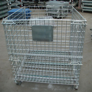 Best Selling Qualified Heavy Duty Metal Galvanized Wire Mesh Storage Container