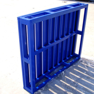 Jiangsu Union 1200 x 1000 Powder Coated Heavy Duty Iron Steel Metal Stackable Rack Pallets