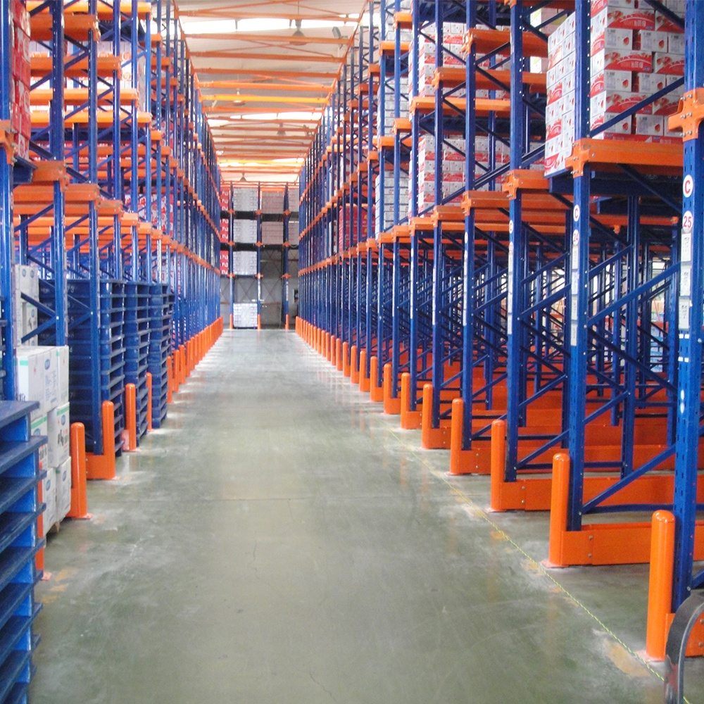 Chinese industrial heavy duty warehouse storage shelving racks drive in racking system