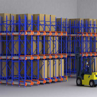 Heavy duty warehouse storage drive in shelf