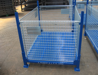 Stacking Customized Foldable & Collapsible Steel Pallet Box/Container