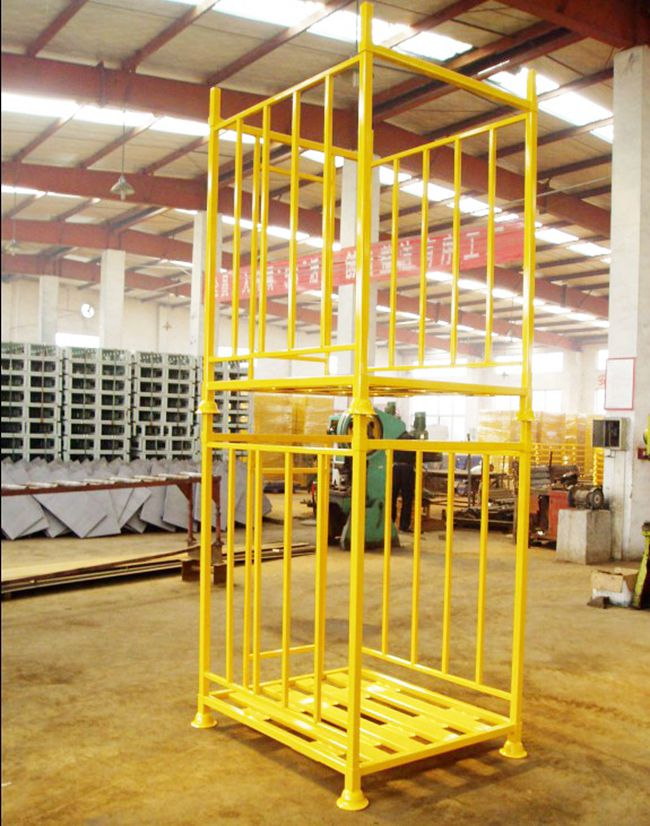 Warehouse Stackable Steel Wire Mesh Cage Pallet