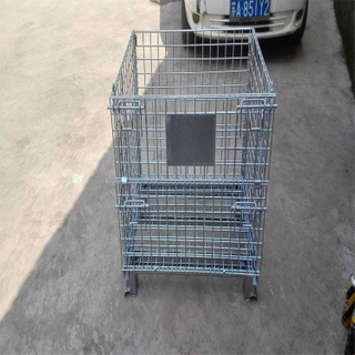 Quality Guaranteed Q235 Steel Heavy Duty Warehouse Stackable Wire Mesh Storage Container