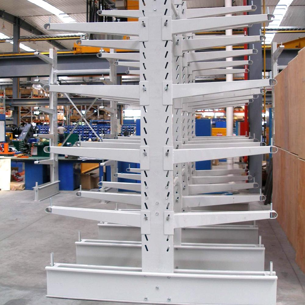 Galvanized Q235 Steel Industrial Cold Rolled Cantilever Rack For Warehouse Storage