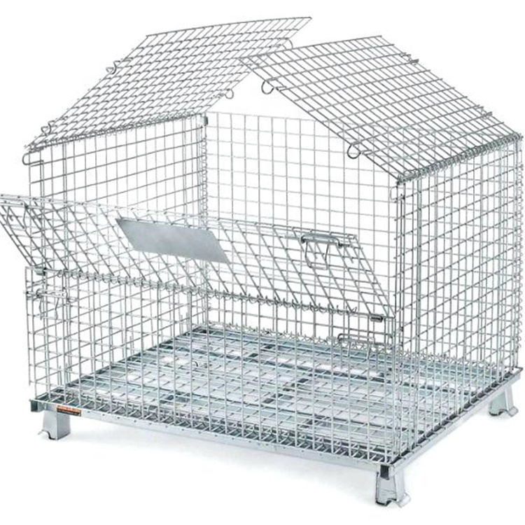Heavy Duty Industrial Stackable Storage Cold-rolled Steel Foldable Wire Mesh Container