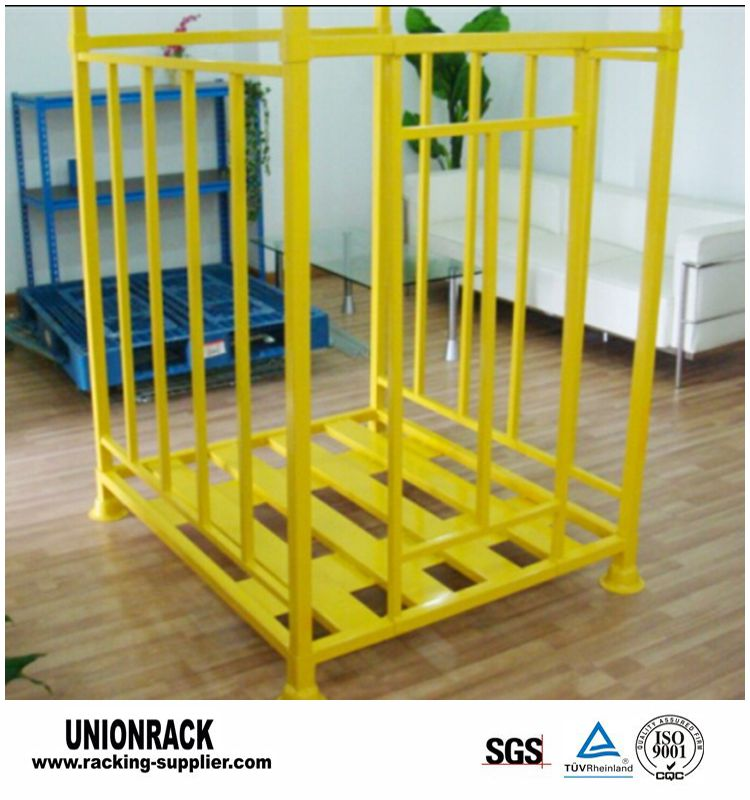 Powder Coating Steel Collapsible Demountable Heavy Duty Stackable Pallet Box