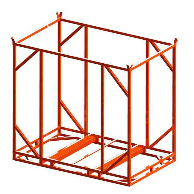 Demountable and stackable steel cage