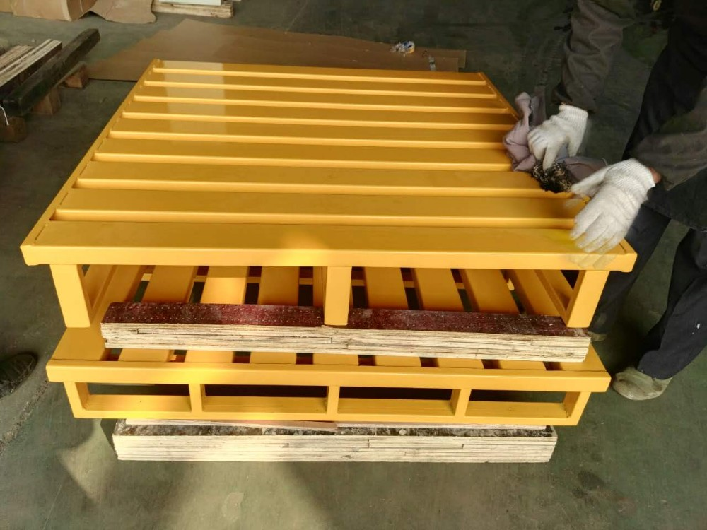 Storage 4 way Entry type stacking single side steel pallet
